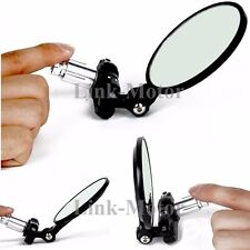 """Motorcycle Adjustment 7/8"""" Handle Bar End Convex Blindsight Rearview Side Mirror"""
