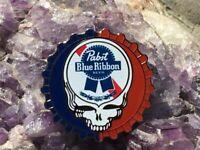 PBR Mash-up Grateful Dead Soft Lapel Enamel Beer Heady Festival Hat Pin