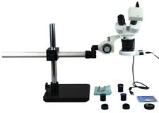 10X-20X-40X-80X Boom Stand Stereo Microscope+1.3MP Camera+54 LED Light