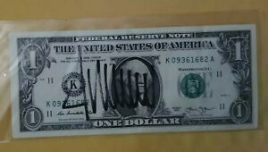 DONALD TRUMP Signed $1 One Dollar Bill Autographed In Black Pen *Excellent Price