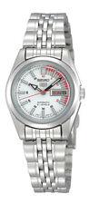 Seiko 5 Automatico Donna Acciaio Orologio Bianco e Rosso Racer Quadrante Syma 41K1 UK Venditore