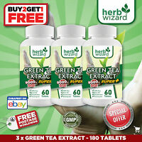 3 x Green Tea 9000mg -high strength fat burner, weight loss- (180 tablets)