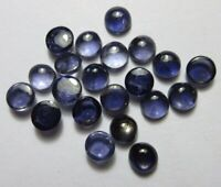 Natural Iolite 3X3mm To 6X6mm Round Cabochon Loose Gemstone