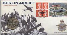 1999 ponte aereo Berlino FDC 50th ANNIVERSARIO MEDAGLIA *** Da collezione *** (29297)