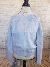 Piko Womens Jacket Blouse Small & Medium Casual Solid Gray Long Sleeve Ramie