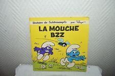 LIVRE DISQUE LES  SCHTROUMPFS LA MOUCHE BZZ VINYL 45T DOROTHEE AB 1983 PEYO