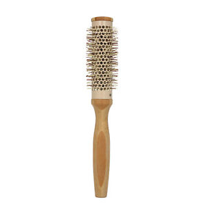 Round Blow Dryer Brush Natural Wooden with Nylon Bristles Roll Styling O3S1