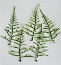 50 Asparagus Green Fern Leaves Artificial Buttonholes Flowers Wedding Crafts
