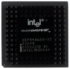Vintage CPU Intel Overdrive odpr 486dx-33 [6979]