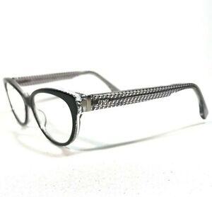 Fendi Sunglasses Glasses Frames Clear Monogram Black Cat Eye FF0109 6ZV 140