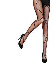 Pretty Polly Diamond Fishnet tight One Size Black - PNAUX6