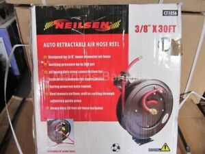 Open framed 30ft x 3/8 inch Auto-retractable Air Line. Wall Mountable. Air Hose.