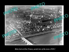 OLD LARGE HISTORIC PHOTO BLOIS LOIR ET CHER FRANCE AERIAL VIEW OF TOWN c1920 2