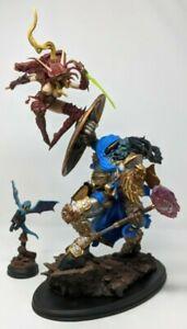 World of Warcraft BLOOD ELF ROGUE VS DRAENEI PALADIN Diorama Sideshow EX Damaged
