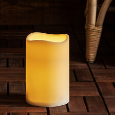 Outdoor Battery Operated LED Pillar Candle by Lights4fun Large