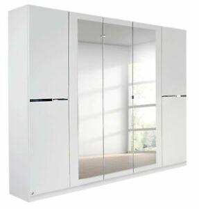 Rauch 'Dorsten' 5 Door Wardrobe, White. German Made Bedroom Furniture.