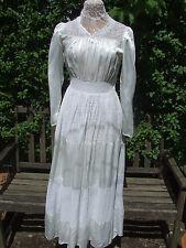 * Original Vintage 1940 S Robe de mariée satin & dentelle sweetheart décolleté