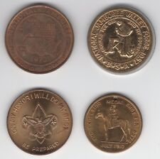 Four Boy Scout related Medals Jamboree Valley Forge Excelsior Scout Motto