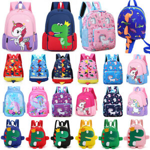 Toddler Kids Boy Girls Unicorn Dinosaur Backpack Nursery School Rucksack Bags