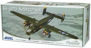 HTF - 2015 Flyzone WWII B-25 Mitchell Bomber - Ready to Fly Radio Controlled