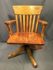 Heywood Brothers And Wakefield Vintage Solid Wood Office Chair Doctor Lawyer Usa