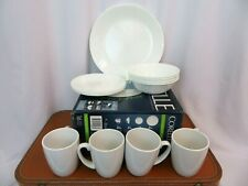 Corelle Vitrelle 16 Piece White Dinnerware Livingware Serving Place Set New