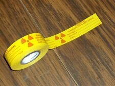 Radioactive Material Geiger Counter Test Source Waste Bag Marking Label Tape 250