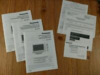 OWNERS MANUAL FOR Panasonic TC-15LV1 LCD TV French English Spanish Versions NEW