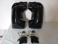 HARLEY ROAD GLIDE FAIRING LOWERS W/CAPS HARDWARE OEM