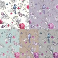 Arthouse Paradise Garden Butterflies Floral Glitter 10m Wallpaper 5 Colours