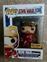 Funko Pop Unmasked Iron Man Hot Topic Exclusive - Marvel Civil War #136