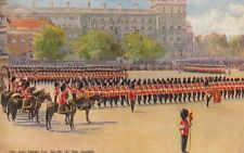TUCK: TROOPING THE COLOUR-King taking salute - HUDSON-OILETTE 3033-oilfacism