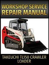 Takeuchi Tl150 Crawler Loader Service Repair Manual On Cd