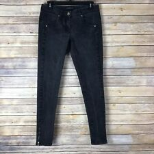 Theory Womens Jeans Cotton Stretch Skinny Leg Ankle Zipper Black Low Rise 4