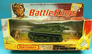 MATCHBOX K-107 BATTLEKINGS 155mm S.P. HOWITZER VINTAGE 1974 DIECAST MODEL MIB