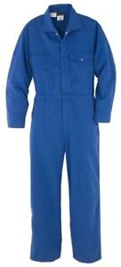 NWT WorkRite Mens Fire Resistant Royal Blue HRC1 Industrial Coveralls Sz 44XXL