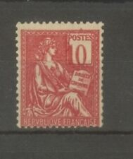 "FRANCE STAMP TIMBRE N°112a ""MOUCHON 10c ROSE CHIFFRES DEPLACES"" NEUFxx TTB SIGNE"