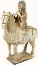 900AD Ancient Medieval China Tang Dynasty Ceramic Votive Horse Musician Rider