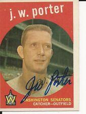 Autographed 1959 Topps JW PORTER Card #246 w/COA