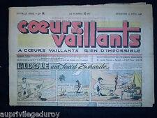 COEURS VAILLANTS - 1948 - N°15  du 11 Avril - TINTIN Le Temple du Soleil -