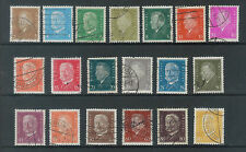1TMM* 1928-32 Germany stamp lot used/hinge/medium cancel F/VF S# 366-84