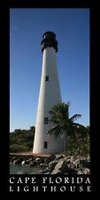 Poster Panorama Cape Florida Lighthouse Panoramic Fine Art Print Miami Photo