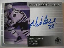 2002-03 SP AUTHENTIC SIGN OF THE TIMES MIKE COMRIE , OILERS !!!  BOX # 7
