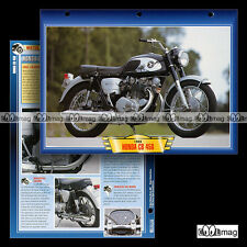 #028.07 Fiche Moto HONDA CB 450 BLACK BOMBER 1966 Classic Motorcycle Card