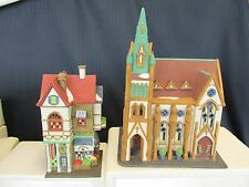 Dept 56 Christmas in the City All Saints Corner Church and Corner Grocer Store