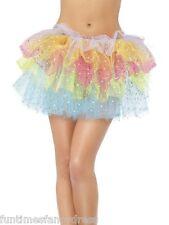 Mini Sparkle Rainbow Tutu With Sequins Festival Fairy Fancy Dress One Size