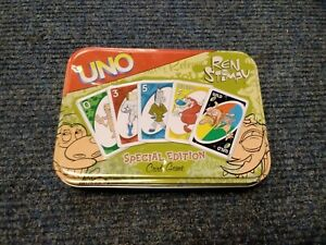 Special Edition ren and stimpy Uno Card Game In a Tin 2004  T980