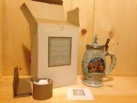 Vintage Collector POSTAL SERVICE Avon USA Lidded Beer Stein Gift MUG