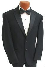 Men's Black Calvin Klein Tuxedo Jacket Two Button with Satin Notch Lapels Wool