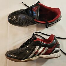 c627fa5d0 ADIDAS Absolado PS Indoor Soccer Shoes SZ US 7.5 Black Red Silver Football  -C14